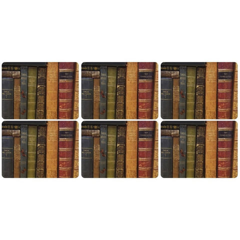 Pimpernel Archive Books Placemats 30.5cm By 23cm (Set Of 6)