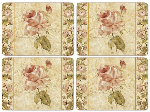 Pimpernel Antique Rose Linen Placemats 40.1cm By 29.8cm (Set Of 4)