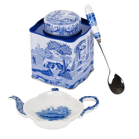 Spode Blue Italian 3 Piece Tea Set