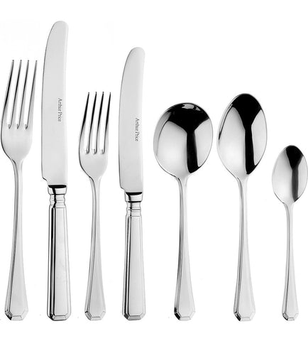 Arthur Price Classic Grecian Solid Handled 7 Piece Place Setting