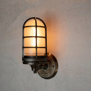 Rustic cage wall sconce