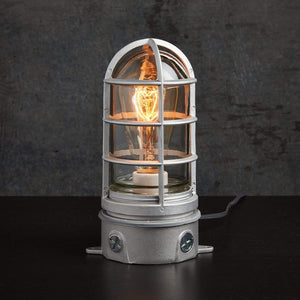 Industrial Bedside Table Lamp with USB Charger