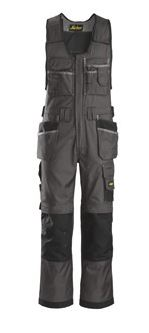 Snickers, 0212 Craftsmen One-Piece Holster Pocket Trousers, DuraTwill (Muted Black / Black 7404)
