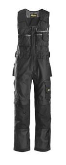 Snickers, 0312 Craftsmen One-Piece Trousers DuraTwill without holster pockets (Black 0404)