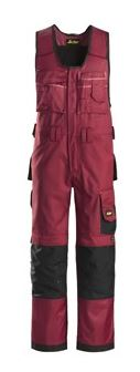 Snickers, 0312 Craftsmen One-Piece Trousers DuraTwill without holster pockets (Chili red 1604)