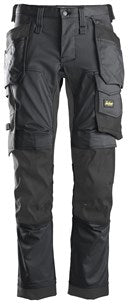 Snickers, 6241 AllroundWork, Stretch Trousers Holster Pockets (Steel Grey / Black 5804)