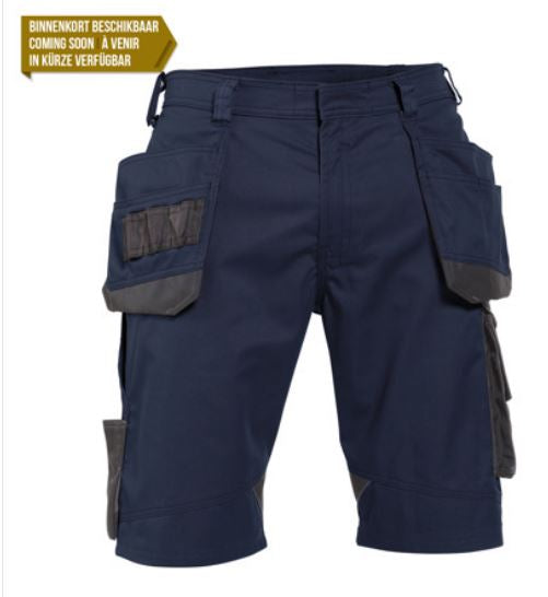 DASSY® Bionic Two-tone work shorts with multi-pockets (Midnight Blue/Anthracite Grey) *NEW*