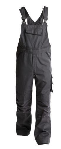 Dassy® Bolt Canvas Brace Overall with Knee Pockets (Anthracite Grey/Black)