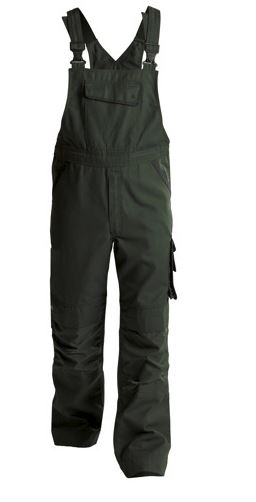 Dassy®  Bolt Canvas Brace Overall with Knee Pockets (Moss Green/Black)