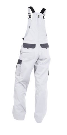 Dassy® Calais Two-Tone Brace Overall (White/Grey)