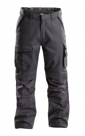 Dassy® Connor Canvas Work Trousers with Knee Pockets (Anthracite Grey/Black)