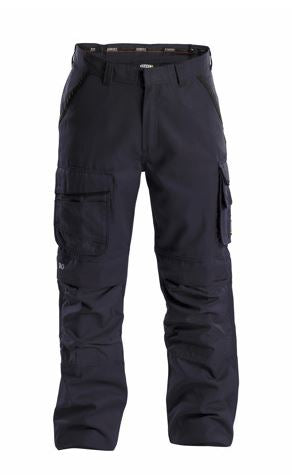 Dassy® Connor Canvas Work Trousers with Knee Pockets (Midnight Blue/Black)