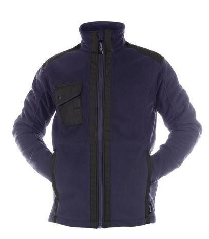 DASSY® CROFT THREE-LAYERED FLEECE JACKET REINFORCED WITH CANVAS