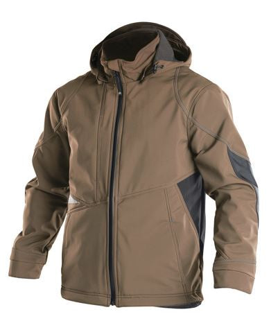 Dassy® Gravity Two-Tone Softshell Jacket (Clay Brown/Anthracite Grey)