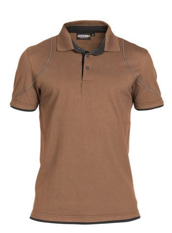 Dassy® Orbital Two-Tone Polo-Shirt (Clay Brown/Anthracite Grey)