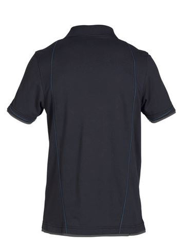 3113dc2d ... Dassy® Orbital Two-Tone Polo-Shirt (Midnight Blue/Anthracite Grey)
