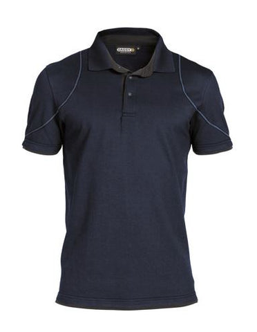 Dassy® Orbital Two-Tone Polo-Shirt (Midnight Blue/Anthracite Grey)