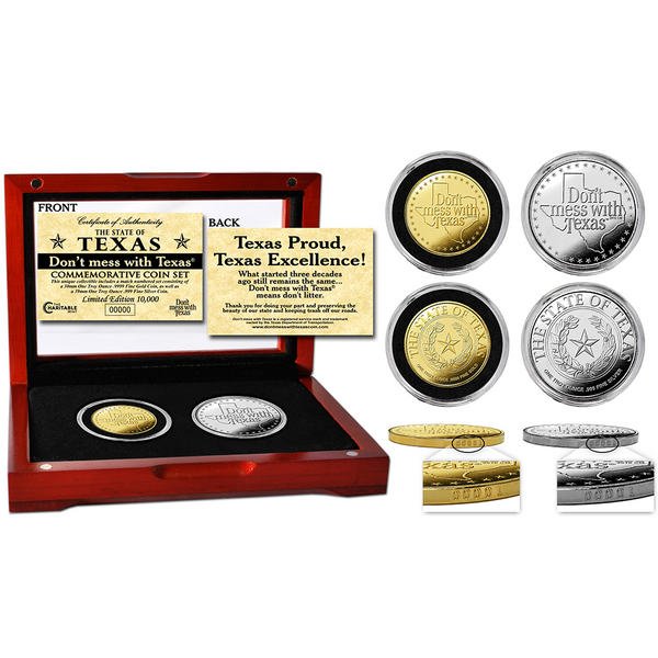 "The Official ""Don't mess with Texas®"" Commemorative Coin Set"
