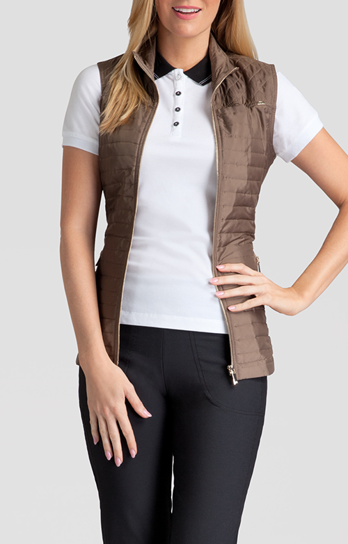 Tail Activewear Lee Quilted Vest - Truffle