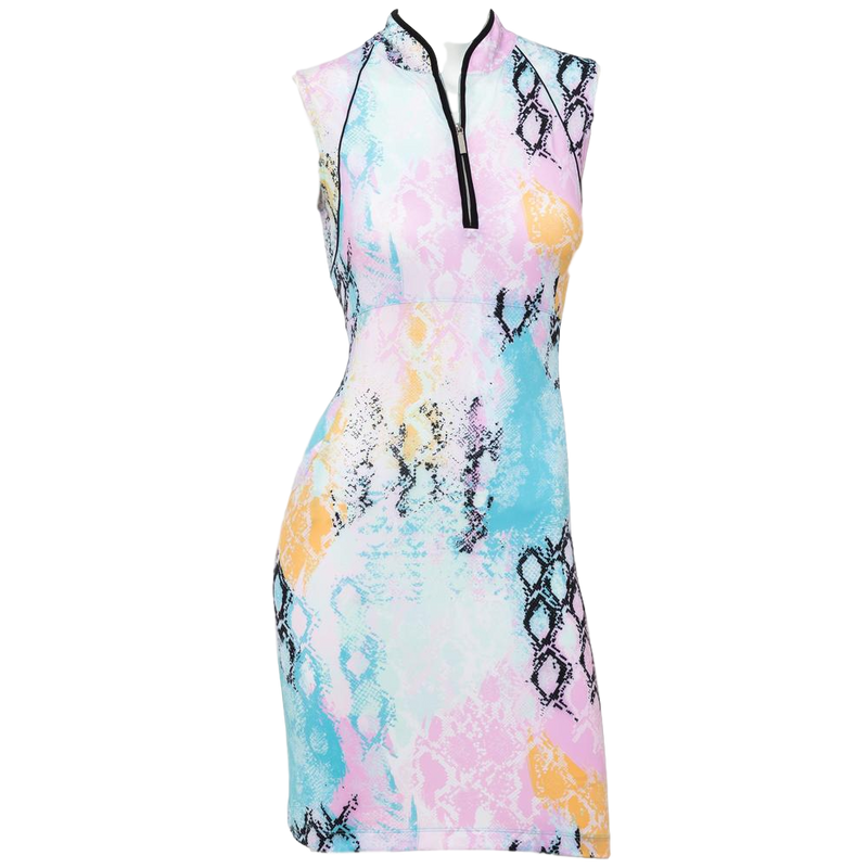 EP NY Patchwork Snakeskin Print Dress - SPF 50