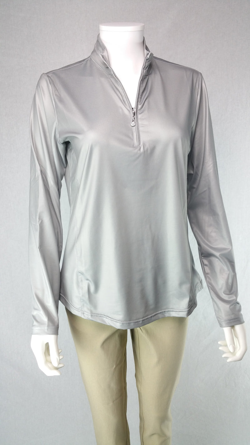 Sansoleil Long Sleeve Silver Mock | SPF 50