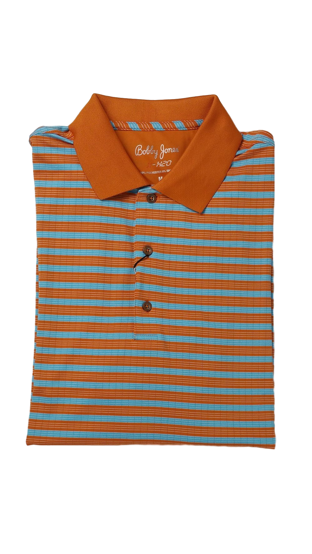 Bobby Jones Performance Orange and Blue Striped Polo