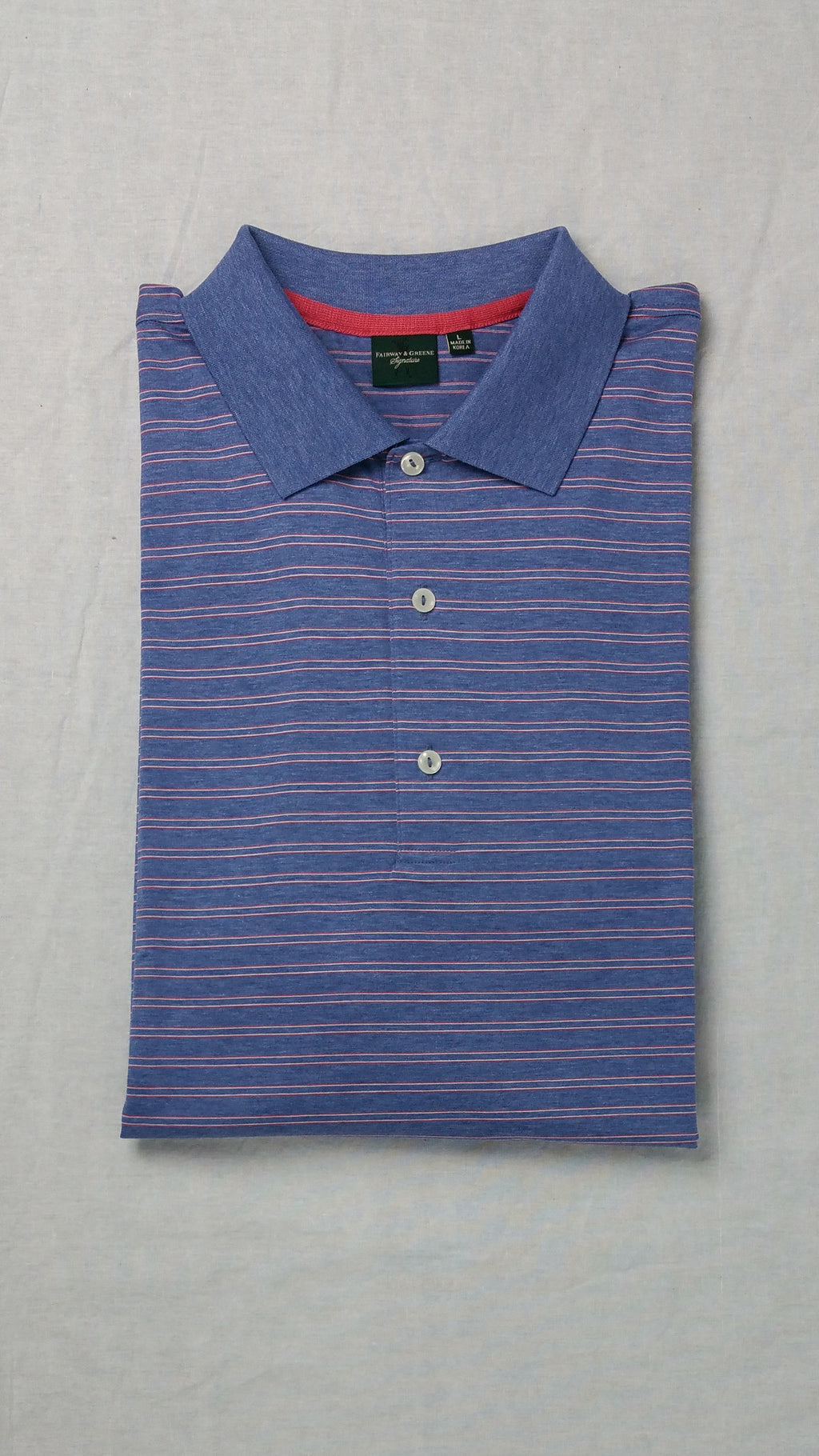 Fairway and Greene Blue Striped Polo