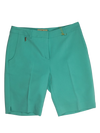"Clara Solid 19"" Short With Front Pockets - Mint Green"