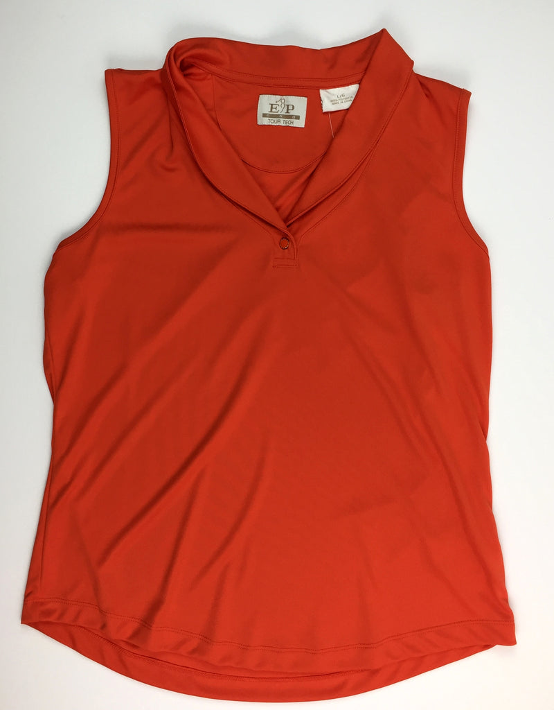 EP Pro Calabria Sleeveless Orange Golf Shirt 5128