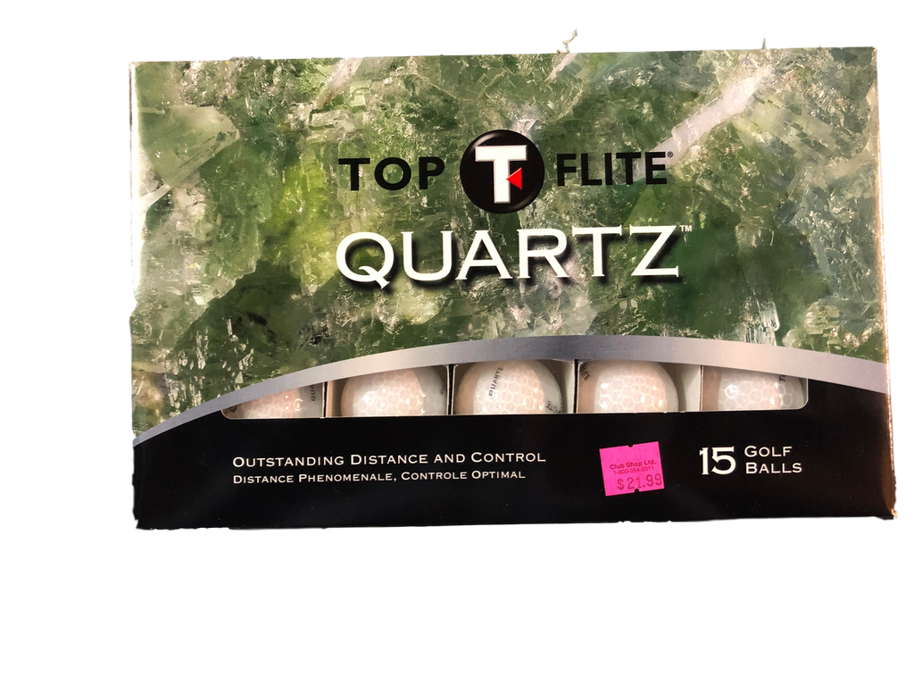 Top Flight Quartz Golf Balls - 15 Balls