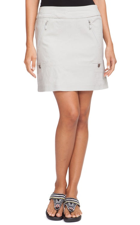 "Jamie Sadock 51353 - Dove with Silver Trims Skort - 18"" SKINNYLISCIOUS"