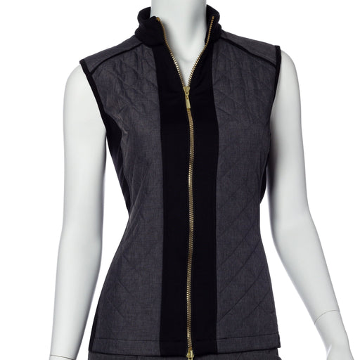 EP NY Quilt and Knit Panel Vest