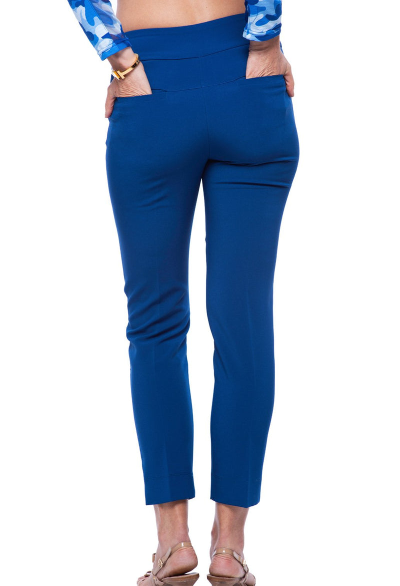 Ibkul Ankle Pant  4 Way Stretch - Navy