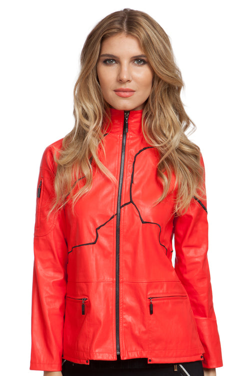 Jamie Sadock Leather in Hot Chili Red #72606