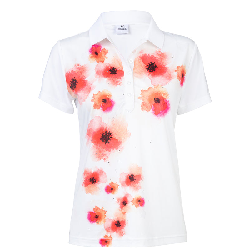 Daily Sport Jemima White Short Sleeve Polo