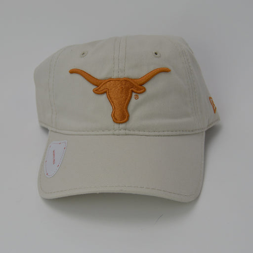 Texas Longhorns New Era Adjustable Golf Hat with Ball Marker - Khaki