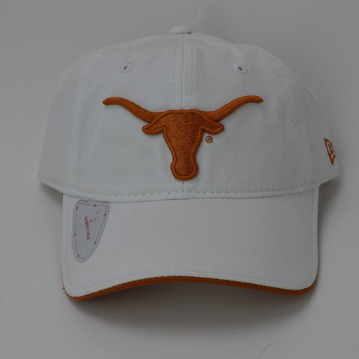 Texas Longhorns New Era Adjustable Golf Hat - White