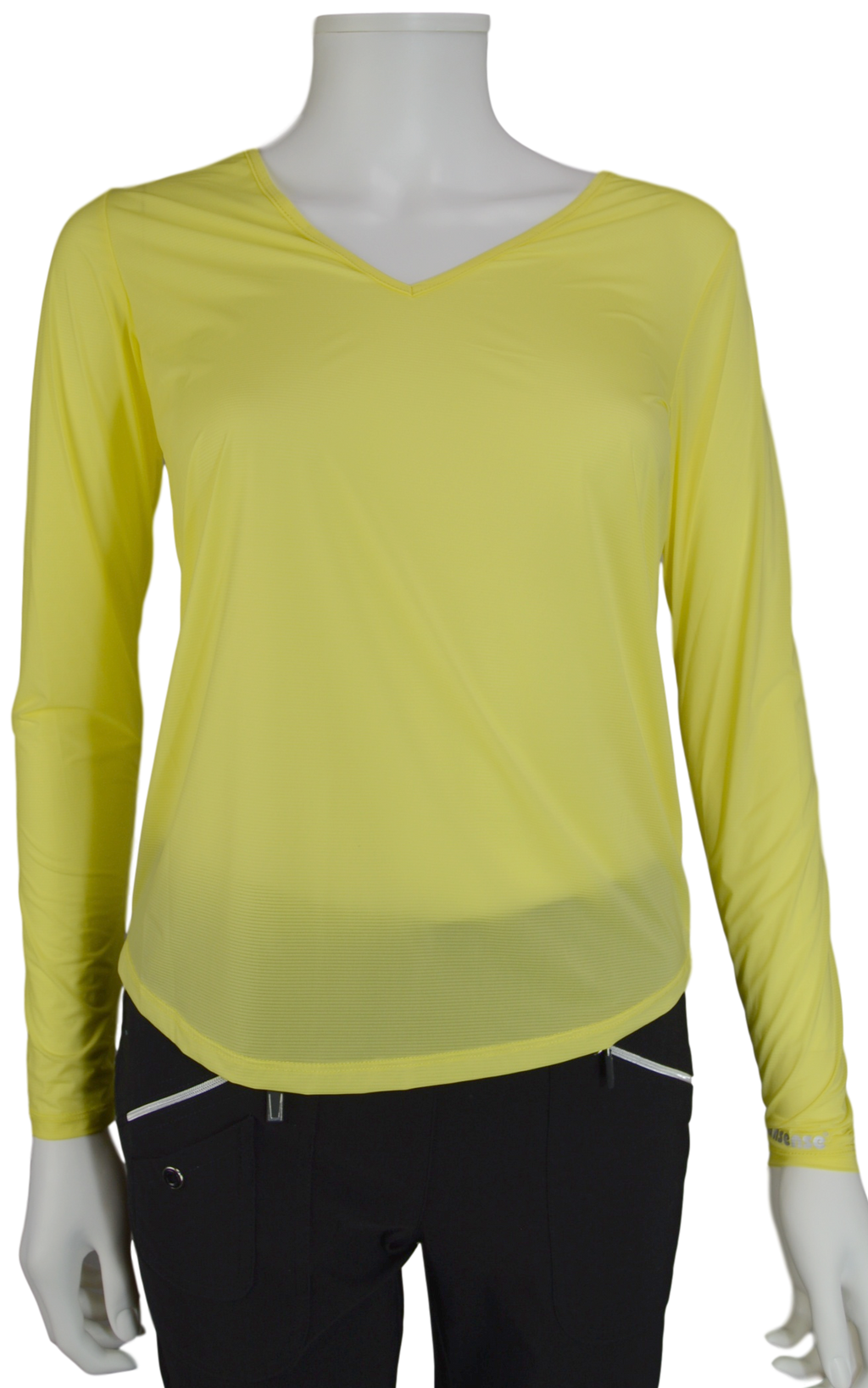 Jamie Sadock Gigabryte Yellow Sunsense Long Sleeve V Neck Shirt - UPF 30