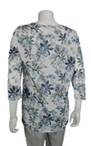 "Lisette L Sport 28"" Wildwood Print 3/4 Sleeve Shirt with Rushed Bottom (LS347308)"