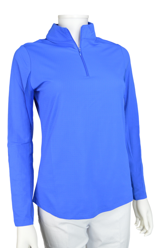 Ibkul Icifil SPF 50 Long Sleeve Sun Shirt: Blue Mock