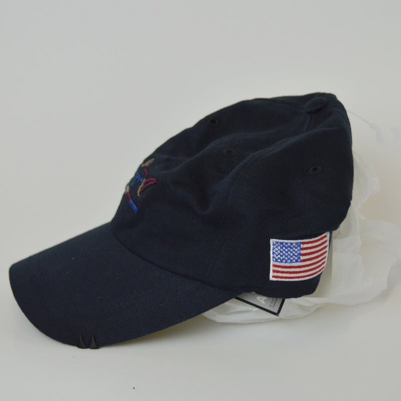 6f78a16f63691 Greg Norman American Flag Adjustable Golf Hat - Navy Blue – Peanuts ...