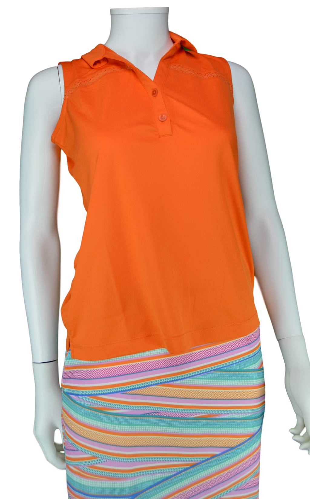 EP Pro Cassis Tour Tech Sleeveless Polo - Orange