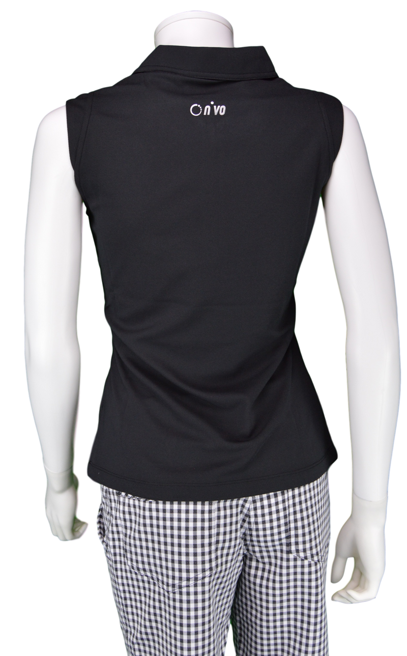Nivo Nika Sleeveless Polo - Black