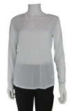 Jamie Sadock Sugar - White Sunsense Long Sleeve Shirt - UPF 30