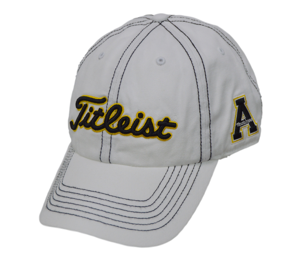 Titleist Golf Hat - Appalachian State 3 logo - White Adjustable – Peanuts  and Golf 6f6cee125a72