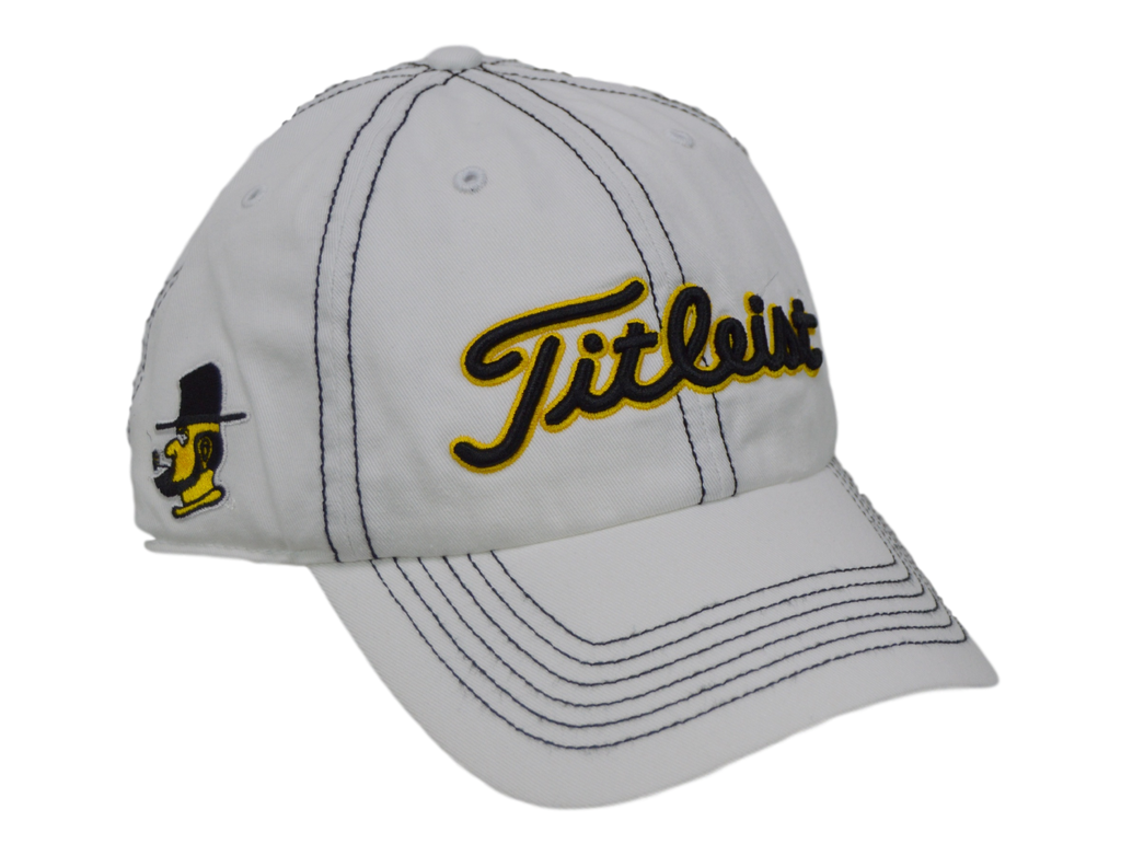 Titleist Golf Hat - Appalachian State 3 logo - White/Adjustable
