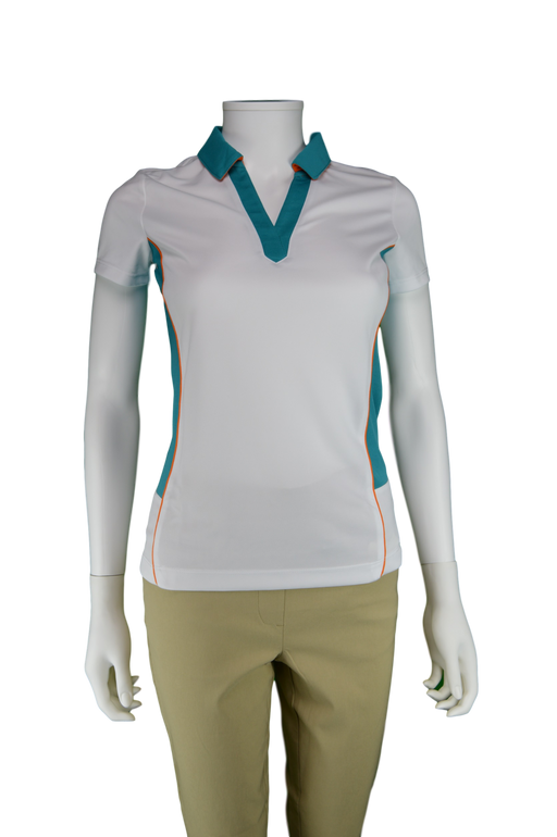 EP Pro Cassis Tour Tech Crossover Polo w/ Contrast Blocking