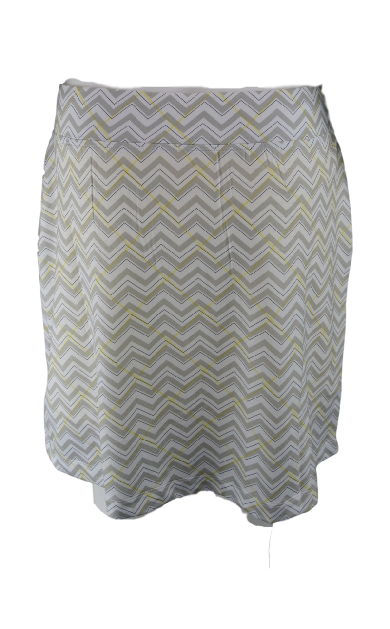 "Bette & Court Control Pull On Cool Elements Chevron Print 18"" Skort"