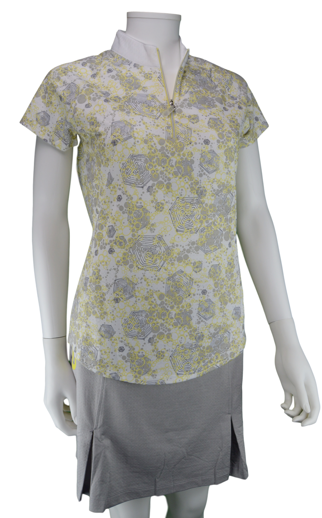 Bette & Court Celeste Short Sleeve Print Polo | SPF 50