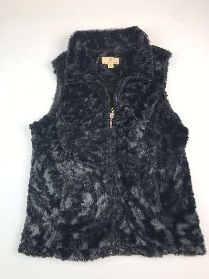 Sport Haley Vest Style WC14 Faux Fur - Black